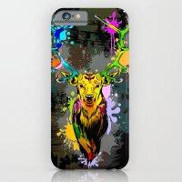 Deer PopArt Dripping Paint iPhone 6 Slim Case