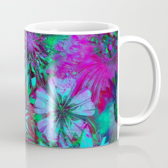 Rivalry of Flowers - green & lilac Mug