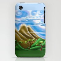 iPhone Cases featuring Fantasy Landscape  by David Michael Schmidt