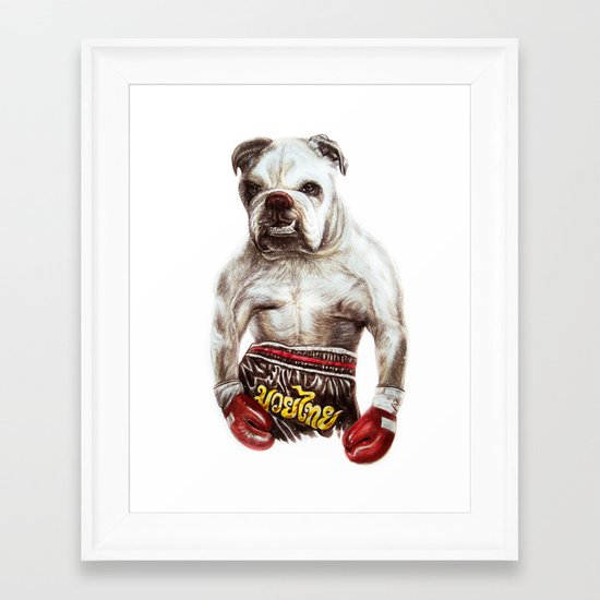 killer dog Framed Art Print