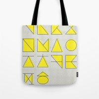 'ㄱ,ㄴ,ㄷ,ㄹ' (Korean Alphabet-Yellow) Tote Bag