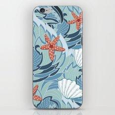 Sea pattern with shells and starfish iPhone & iPod Skin