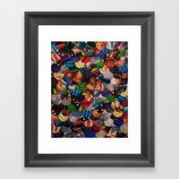COLLAGE LOVE: Bright Lig… Framed Art Print