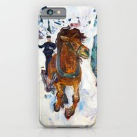 iPhone Cases featuring Galloping Horse by Edvard Munch by Palazzo Art Gallery
