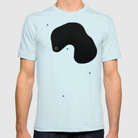 hugefleck Mens Fitted Tee Light Blue SMALL