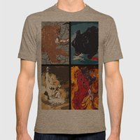 The Elemental Fiends Mens Fitted Tee Tri-Coffee SMALL