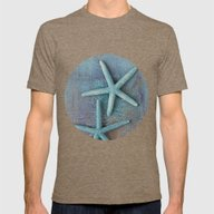 Starfish Mens Fitted Tee Tri-Coffee SMALL