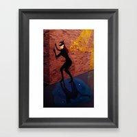The Catwoman Framed Art Print