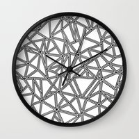 Abstract New Black On Wh… Wall Clock