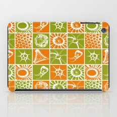 Microscopic Life Sillouetts Orange and Green iPad Case