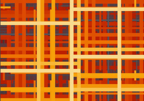 Firey Rectangles Canvas Print