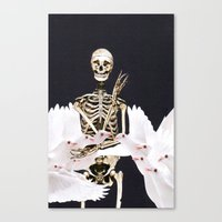 Peace And Death Canvas Print