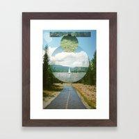 Wet Road Framed Art Print