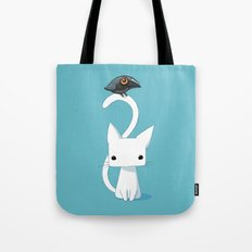 Cat and Raven Tote Bag