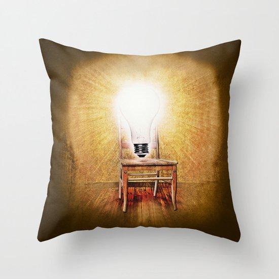 The Seat of Big Ideas Throw Pillow