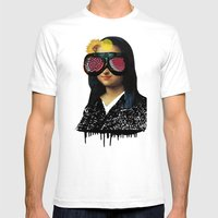 Mona ViLisa 2 Mens Fitted Tee White SMALL