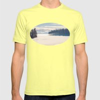 Bright December Mens Fitted Tee Lemon SMALL