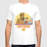 Cat Tarts Mens Fitted Tee White SMALL