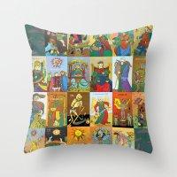 Tarot of Marseilles Throw Pillow