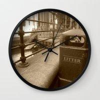 London Trash Talk Wall Clock