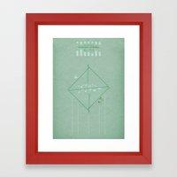 Ar Numerat | QUADRIVIUM - MINIMALIST POSTER Framed Art Print