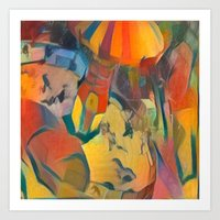 abstract Carnival ride Art Print