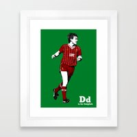 D is for Dalglish Framed Art Print