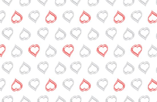 Hearts II Art Print