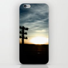 Sunset on the Road iPhone & iPod Skin