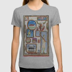 Pictures Womens Fitted Tee Athletic Grey SMALL