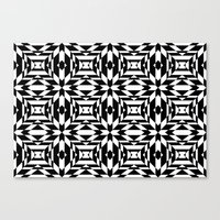 Black and White Tile Canvas Print