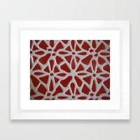 Red Stone Path Framed Art Print
