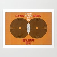 Reservoir Dogs - Venn Diagram : Stuck in the Middle with you Art Print