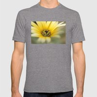Yellow flower Mens Fitted Tee Tri-Grey SMALL