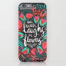 The Earth Laughs in Flowers – Pink & Charcoal iPhone 6 Slim Case