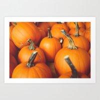 Cute Lil' Pumpkins Art Print
