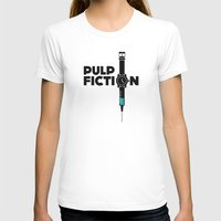 Pulp Fiction  Womens Fitted Tee White SMALL