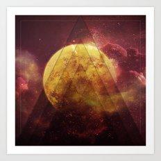 Retro Nebula Art Print