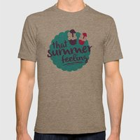 That summer feeling Mens Fitted Tee Tri-Coffee SMALL