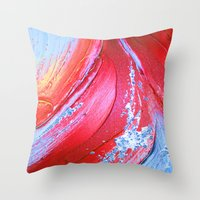 Acrylic Abstract On Canv… Throw Pillow