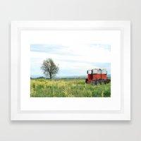Field Below Framed Art Print