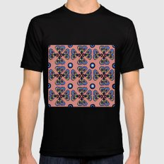 Butterflies and Dots Mens Fitted Tee Black SMALL