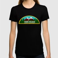 Twin Peaks: Twin Peaks Sheriff's Department Womens Fitted Tee Black SMALL