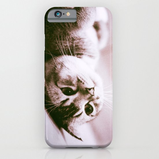 UPSIDE DOWN CAT iPhone & iPod Case