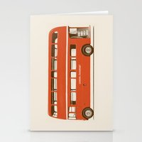 Red London Bus Stationery Cards
