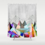 Shower Curtain featuring Colorflash 3 by Mareike Böhmer Grap…