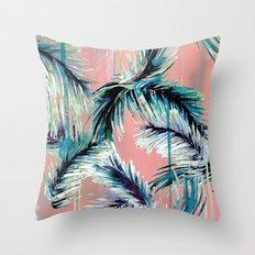 Pink tropical haze Throw Pillow