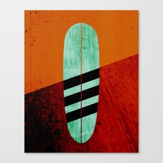 Mint Longboard Canvas Print