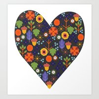 Woodland Heart Art Print