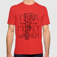 Year of the Monkey Wrench Mens Fitted Tee Red SMALL